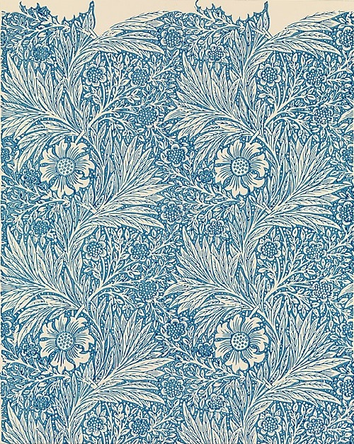 Marigold. William Morris. Manufacturer Morris & Company, designed ca. 1875. Medium - Block-printed wallpaper