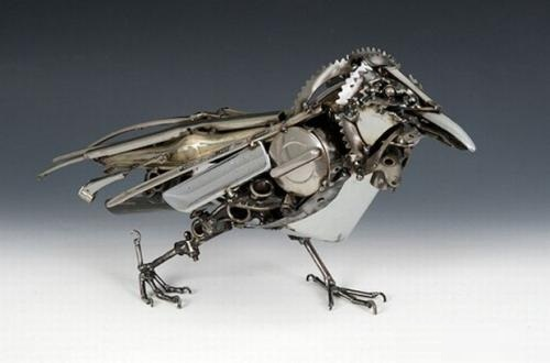 Metal sculpture by James Corbett