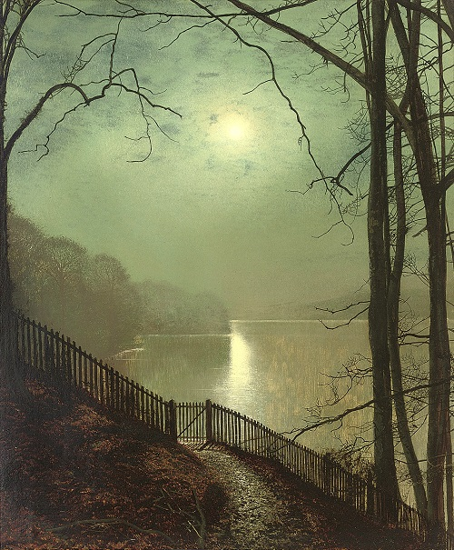 Moonlight on the Lake, Roundhay Park, Leeds