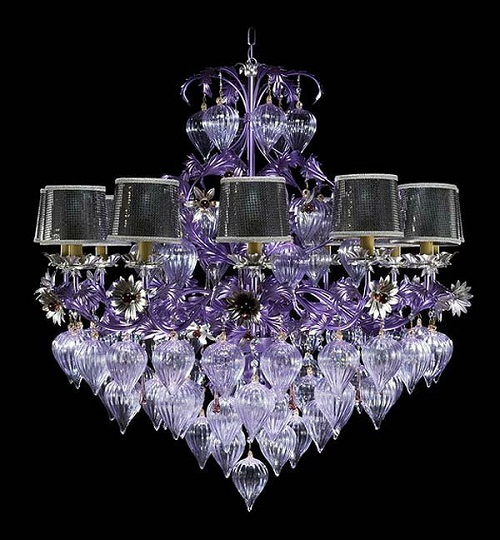 Chandelier - glass art by Murano glass artists