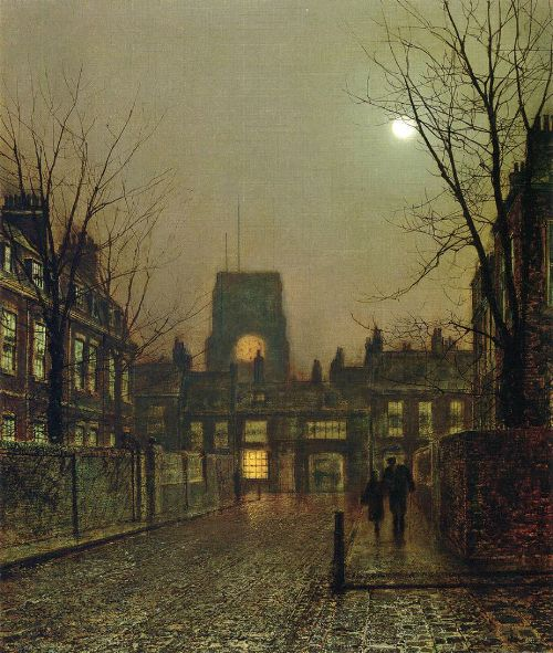 November Moonlight. Moonlight Painter John Atkinson Grimshaw