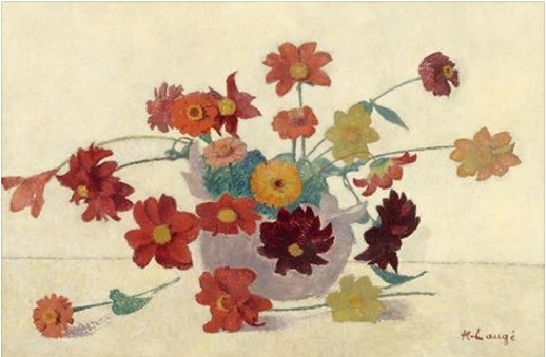 Vase of Flowers - 1902. Painting by French painter Achille Lauge