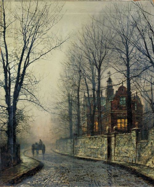 Old Chelsea. Moonlight Painter John Atkinson Grimshaw