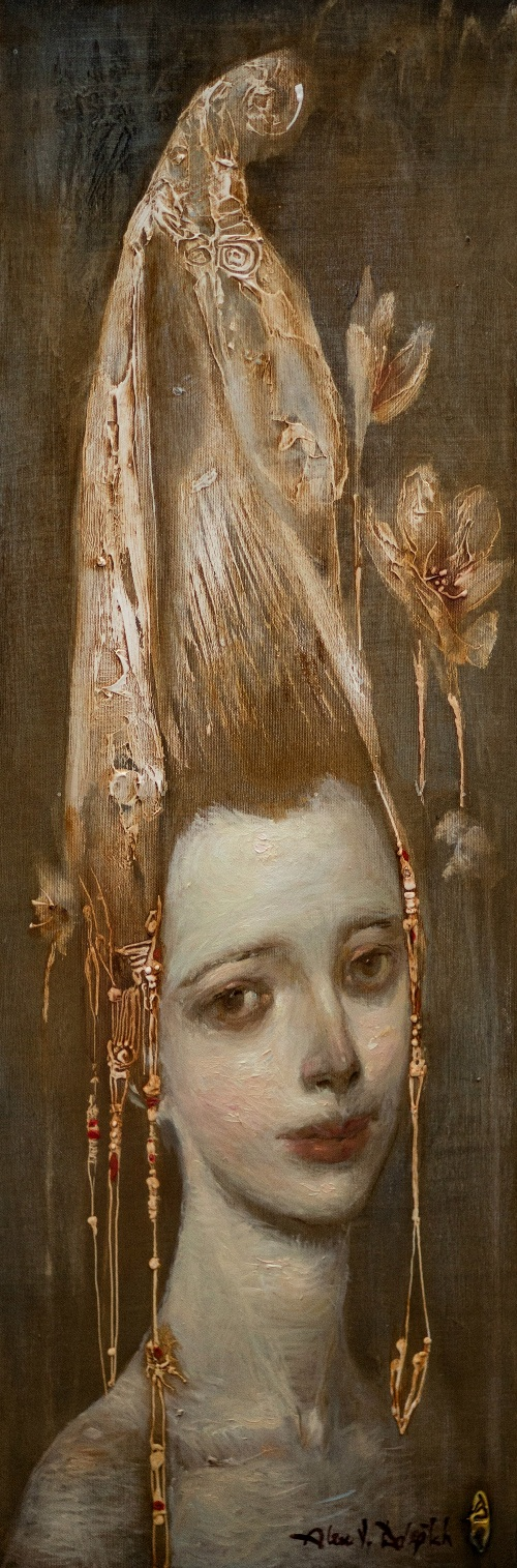 Hair tower. Painting by Crimean artist Alexander Dolgikh