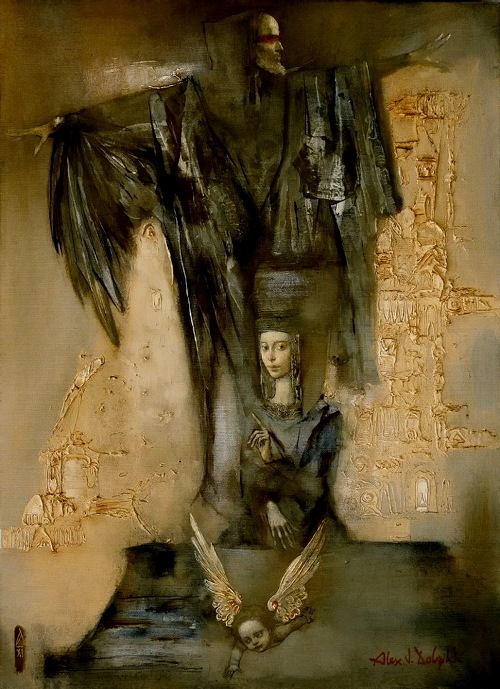 Fallen angels. Painting by Alexander Dolgikh