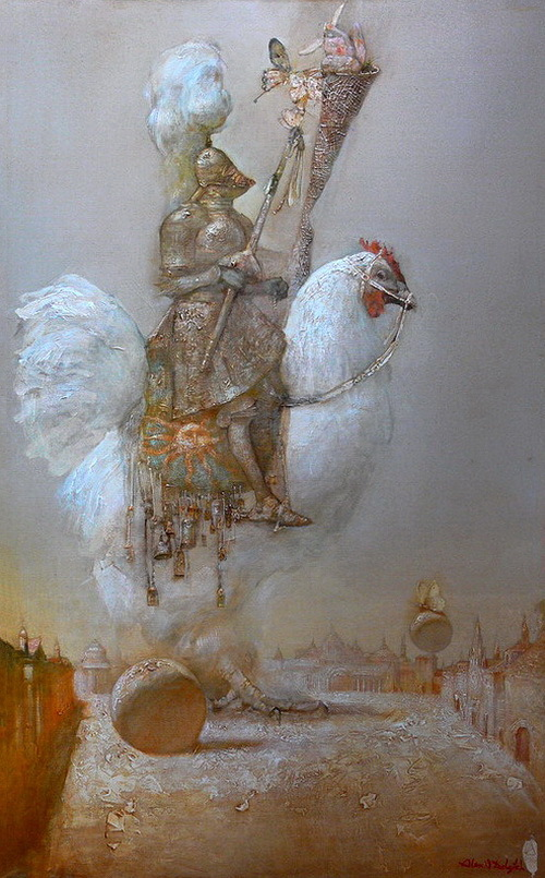 Knight on a hen