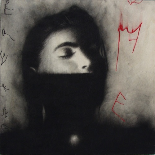 Painting by Italian artist Omar Galliani