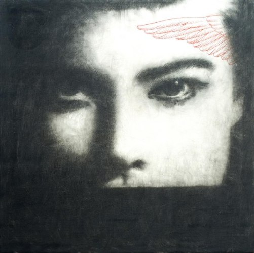 Painting by Italian painter Omar Galliani