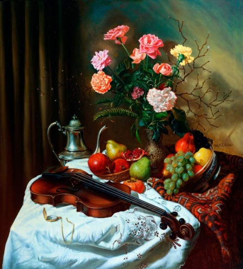 Painting by Russian painter Alexei Antono