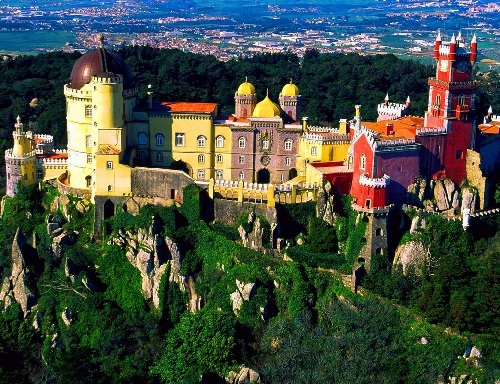 Masterpiece of architectural art Pena Palace
