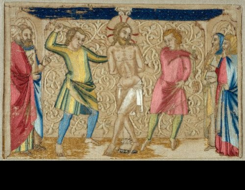 Panel from an Altar Frontal – The Flagellation, mid–14th century. Made in Florence, Italy