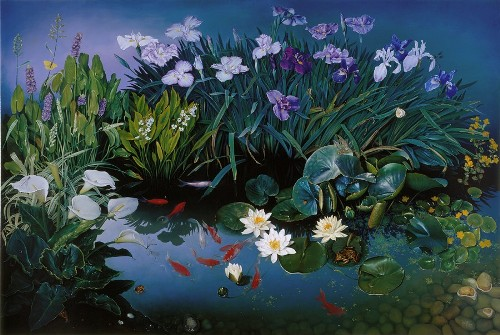 Pond Life, oil on canvas, 2000. Still life painting by Jose Escofet