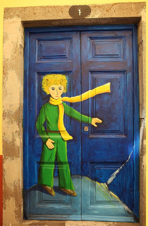 Portuguese Rua de Santa Maria street in Funchal, Madeira is probably the most colorful street because of its original and colorful doors