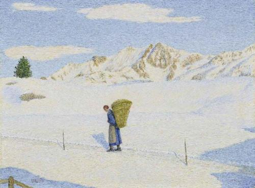 Return, 1956. Italian painter Giovanni Segantini