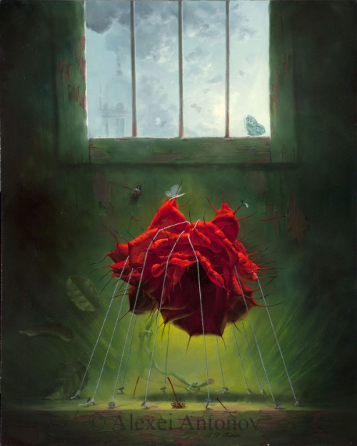 Rose Assassin. Painting by Russian artist Alexei Antonov