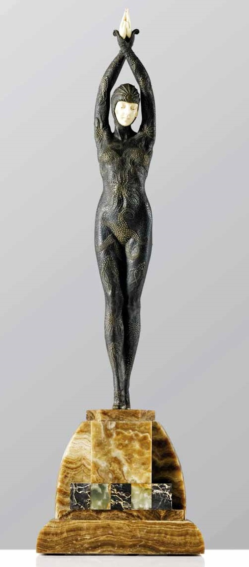 Art Deco era sculptor Demetre Chiparus
