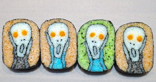 Scream sushi based on 'Scream' by Edvard Munch