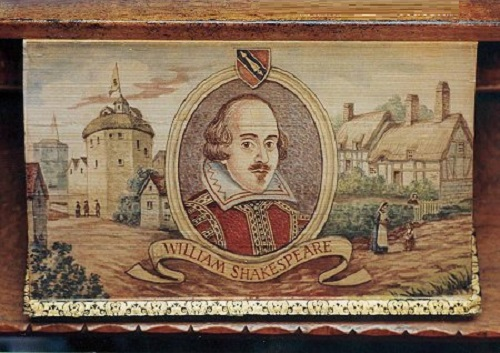 Shakespeare - painted on the edges of the pages of a book