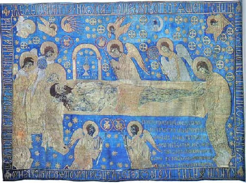 Shroud. The Entombment. Early 15th century