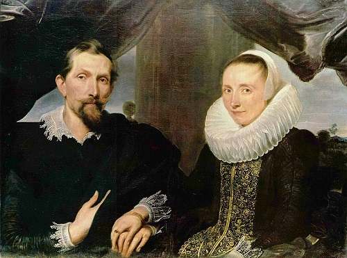Philosophical statement in painting. Snyders and his wife, by Anthony van Dyck, Kassel
