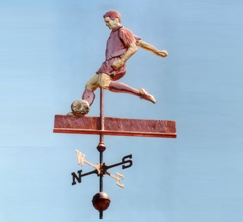Soccer Player Weather Vane Male