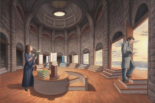 Space Between the Words. Canadian painter of magic realism Rob Gonsalves