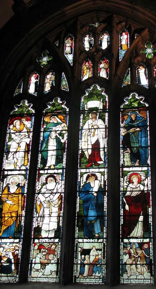 Stained glass windows by Edward Burne-Jones