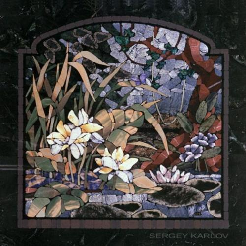 Stone mosaic by Russian stone carver and mosaic artist Sergey Karlov