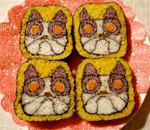 Sushi art by Takayo Kiyota