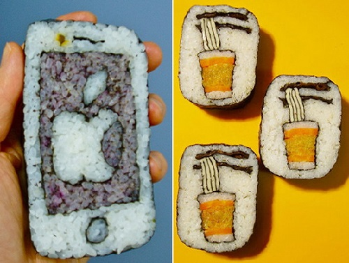 Sushi art by Japanese food artist Takayo Kiyota
