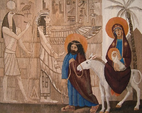 'Flight into Egypt' 200x250 cm, 2011. Tapestry by Russian artist of applied art Andrey Madekin