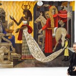 The meeting of Solomon and the Queen of Sheba, 200 x 260 cm, 2014