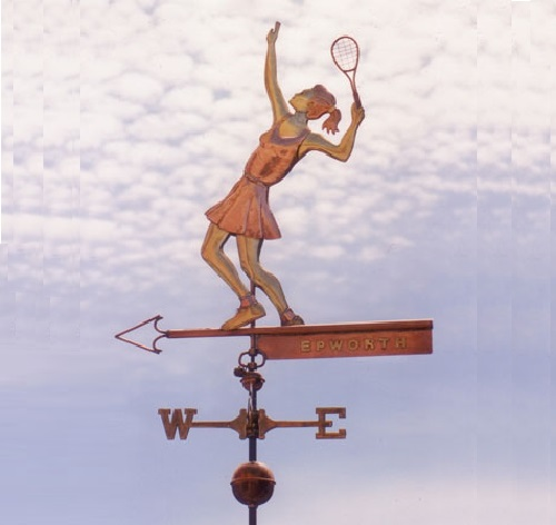 Tennis Player. The West Coast Weather Vanes art studio, California