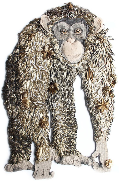 Textile animals by Australian artist Karen Nicol