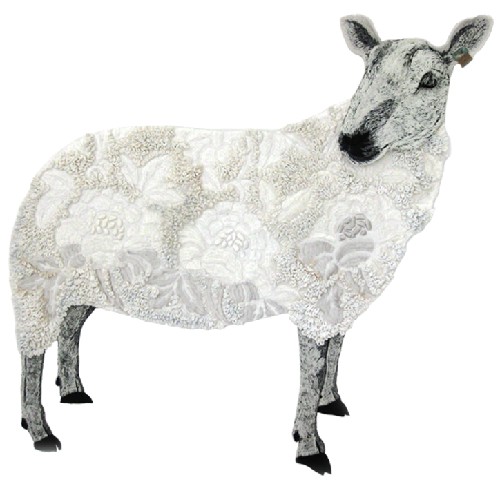 Textile animals by Karen Nicol