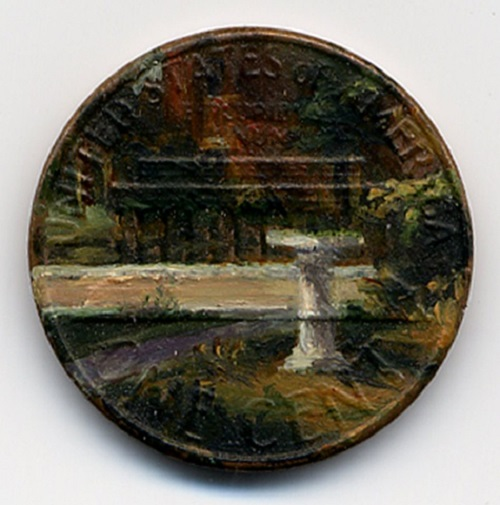 The Baptistery, 1980. oil on penny