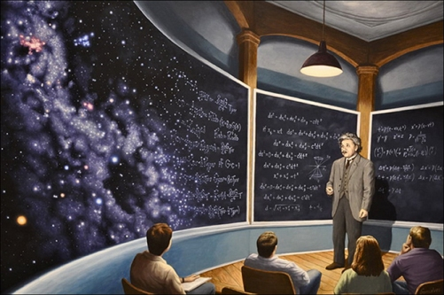 The Chalkboard Universe. Canadian painter of magic realism Rob Gonsalves