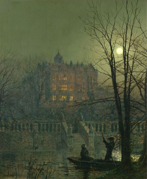The Moonbeams, 1882. Painting by John Atkinson Grimshaw