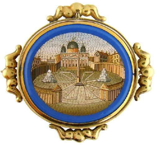 The second half of the 19th century. Brooch 'St. Peter's Square'