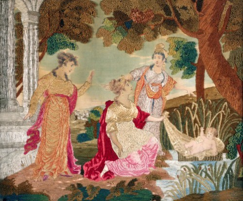 Antique European embroidery art