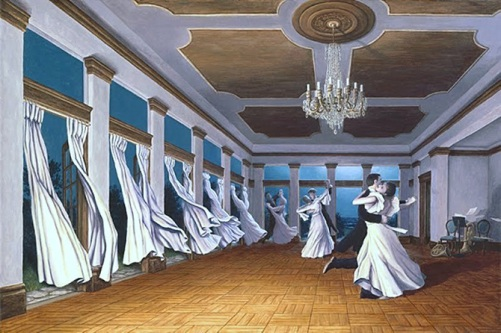 Wind dance. Painting by Canadian artist Rob Gonsalves
