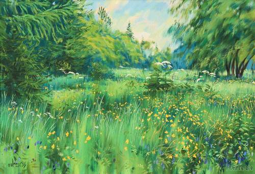 Buttercups season. Russian painter Igor Shishelov