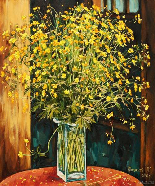 Buttercups. Russian painter Igor Shishelov