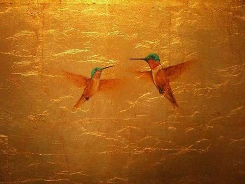 Gold Leaf painting by Gabriel Burchman