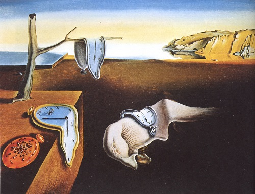 The Persistence of Memory hidden symbols, 1931. Painting by Salvador Dali