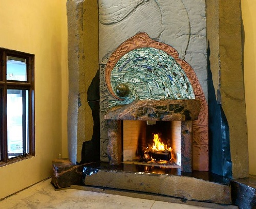 A Fireplace by the River