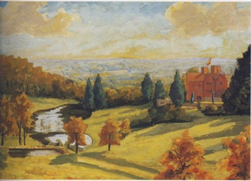 A View From Chartwell, 1938. Painting by Sir Winston Churchill