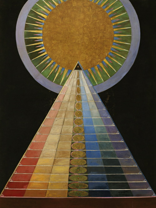 Abstract painting by Swedish artist Hilma af Klint