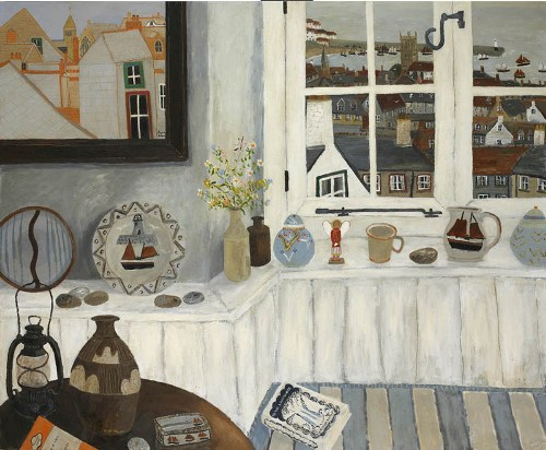 An Angel. Naive Painting by contemporary British artist Gary Bunt