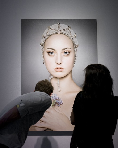 Flora. Hyper realistic oil painting by Swedish artist Anna Halldin Maule